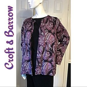 Croft & Barrow Cardigan Sweater Purple Size 2X